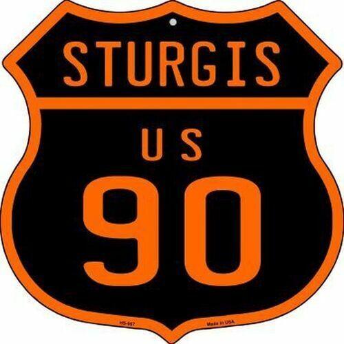 "Sturgis 90 US moto Rally 11/"" Highway bouclier métallique signe Home Wall Decor"