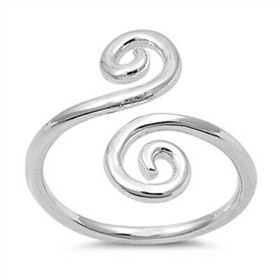 Scroll Wrap Ring, Sterling Silver, Arm Band Style, Greek Style Band, w Gift Box