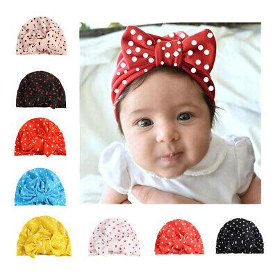 UK Newborn Infant Baby Knotted Cotton Hat Toddler Kids Boys Girls Soft Cap Hat