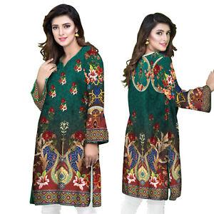 Sufia Fashions® Women Pakistani Dress Kurta Kurti Cotton Digital Print Tunic