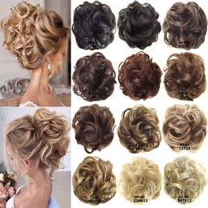 UK Lady Curly Messy Bun Hair Piece Scrunchie Hair Bobble Scrunchie ... 86c5029c257
