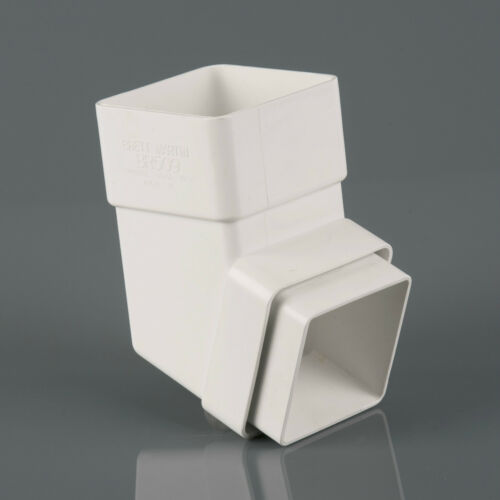 PLASTIC SQUARE DOWNSPOUT 112 OFFSET DOWNPIPE BEND 65mm VARIOUS COLOURS