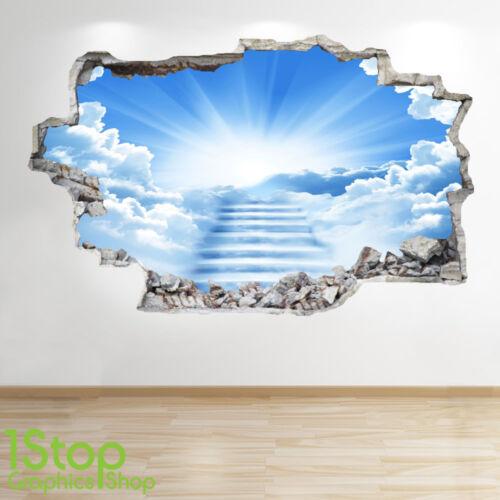 Ciel Autocollant Mural 3D Look-stairway to heaven chambre salon Applique murale Z534