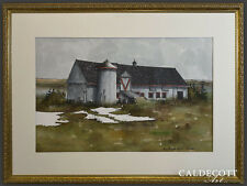 QUEBEC COUNTRY BARN FRENCH CANADIAN LISTED ARTIST JEAN-PHILIPPE VOGEL SIGNED