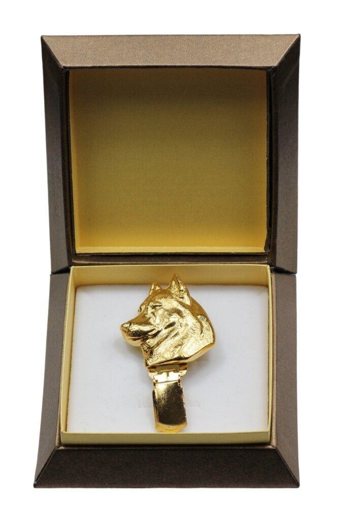 Husky sibérien - clip doré dans une boîte, haute qualité Art Dog FR