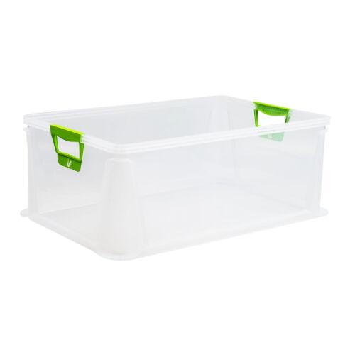 keeeper Aufbewahrungsbox mit Softgriffen transparent 45L