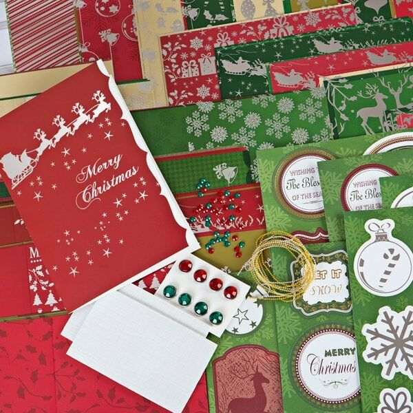 Create and Craft Luxury Lustre Card Kit  Great for Christmas NEW