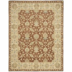 Antiquity Hand Tufted Brown Taupe Wool Area Rug 8 3 X 11