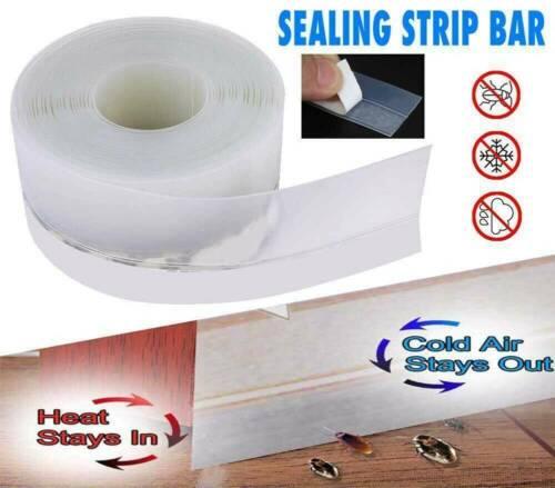 Door Seal Under Door Weather Stripping Sweep Bottom Seal Strip Draft Stopper US