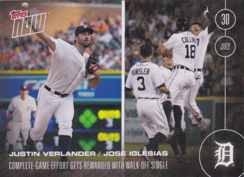 2016 Topps NOW 295 Justin Verlander Jose Iglesias Tigers Complete Game ONLY 355
