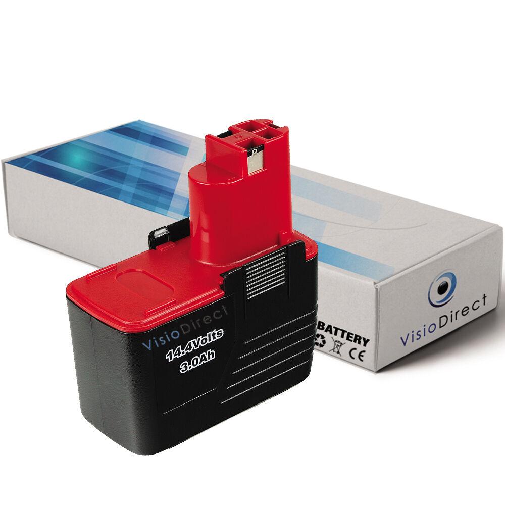 Batterie 14.4V 3000mAh pour BOSCH GSR 14,4 VPE2 - Société Française -