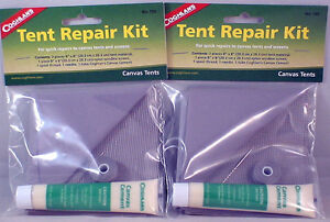 Image is loading 2-PACK-TENT-REPAIR-KITS-FOR-QUICK-REPAIRS- & 2 PACK TENT REPAIR KITS-FOR QUICK REPAIRS TO CANVAS TENTS AND ...
