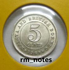 """MALAYA & BRITISH BORNEO  Q.Elizabeth II 5cents coin 1961 """"BU"""""""