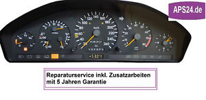 Mercedes-W140-Kilometerzaehler-hakt-Tacho-defekt-Kombiinstrument-Reparatur