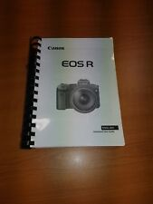 CANON EOS R CAMERA PRINTED USER MANUAL GUIDE HANDBOOK 644 PAGES A5
