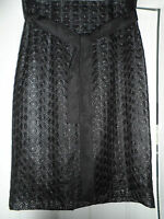 Marks & Spencer Ladies Black Pretty Party Skirt Size 12 Rrp £45