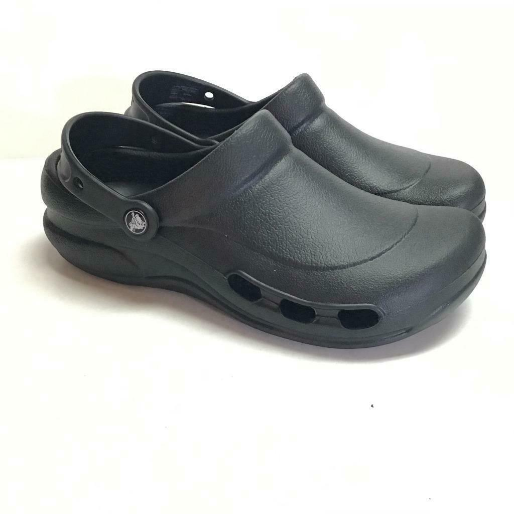 Crocs Mens 8 Womens 10 Specialist Vent Clogs Shoes Black Rubber Slip On NEW