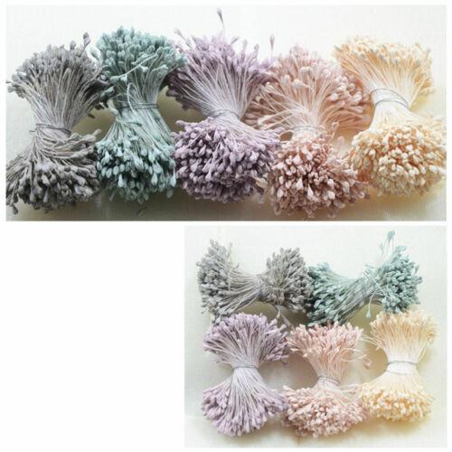 720 Teile satz Doppelkopf Künstliche Blume Staubblätter Stempel für