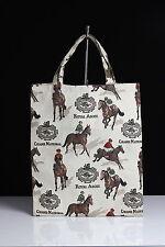 Einkaufstasche Gobelintasche Bag Pferde Royal Ascot Stoff