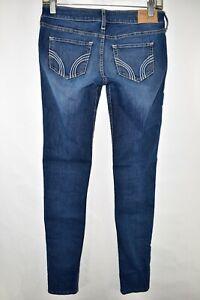 Hollister-Skinny-Stretch-Jeans-Womens-Size-1R-Blue-Meas-27x30-5