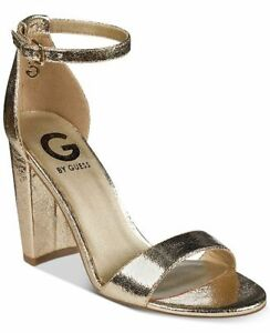 e7ff8790ea0  99 size 10 G By GUESS Shantel Gold Strappy Heel Ankle Strap Sandals ...