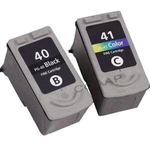 2-pieces-PG-40-CL-41-PG40-CL41-Cartouche-D-039-encre-Pour-Canon-Pixma-MP140-MP150