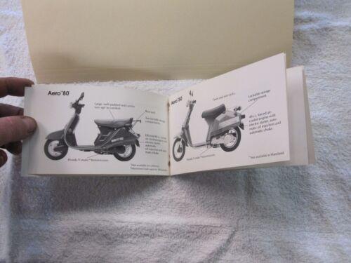 NOS Honda AERO   DEALER SALES BROCHURE
