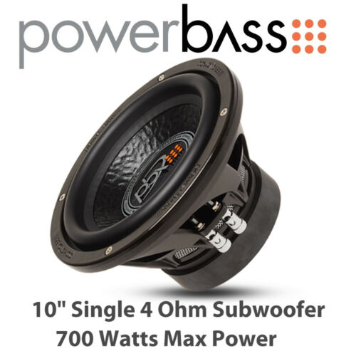 "Powerbass XL-1040-10/"" solo 4 Ohm Car Audio Subwoofer 700 W Max Power"