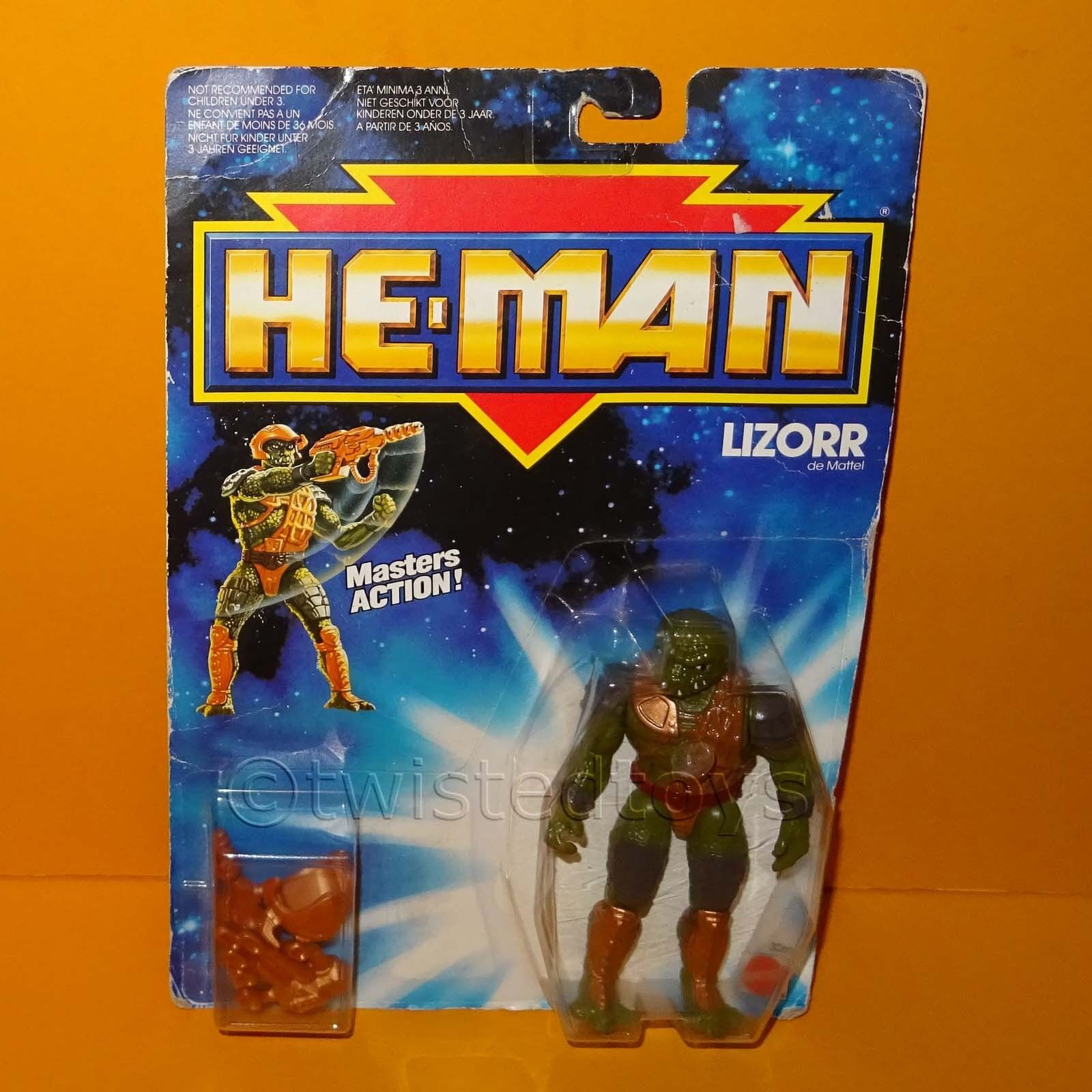 VINTAGE 1989 80s MATTEL MOTU NEW ADVENTURES OF HE-MAN LIZORR FIGURE MOC CARDED