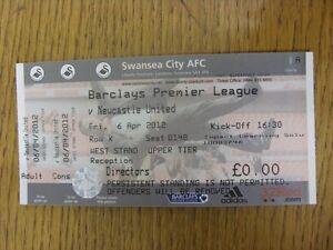 06-04-2012-Ticket-Swansea-City-v-Newcastle-United-Complete-Footy-Progs-Bobf