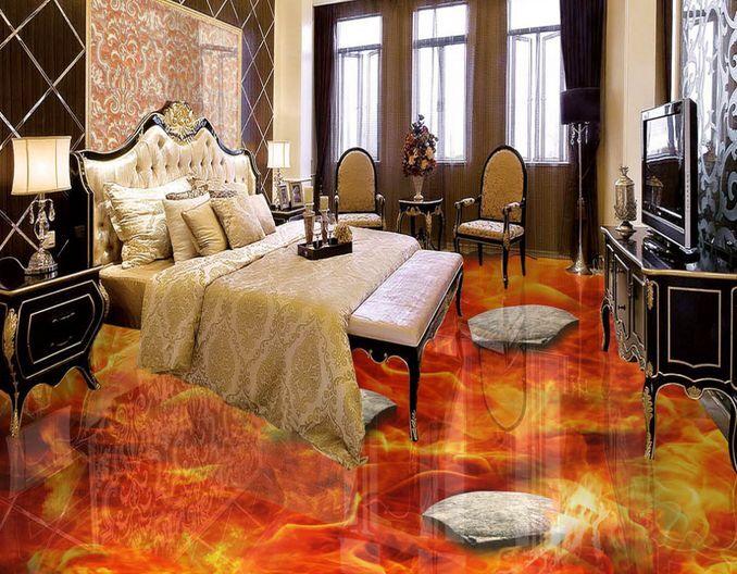 3D pietra vulcano Pavimento Foto Wallpaper Murales Muro Stampa Decalcomania