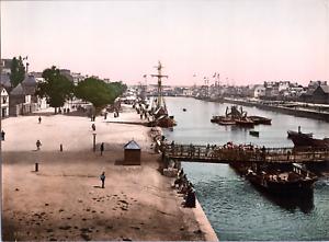 France-Lorient-Port-du-Commerce-vintage-print-photochromie-vintage-photoch
