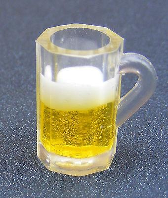 1:12 Maßstab Kunststoff Glas Bier Lager Oder Leerer Tumdee Puppenhaus Mini ML