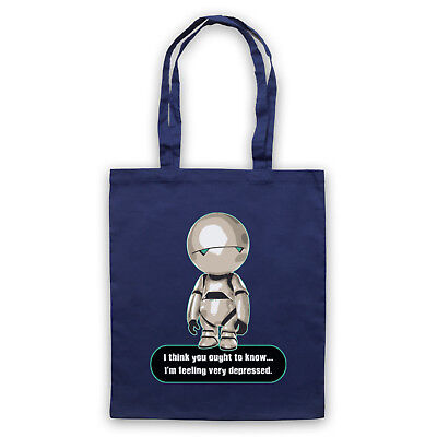 Vorsichtig Marvin Paranoid Android Unofficial Hitchhikers Guide Tote Bag Life Shopper 100% Original Taschen Kleidung & Accessoires