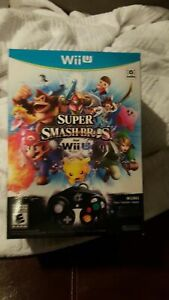 New-Super-Smash-Bros-LIMITED-EDITION-Wii-U-Game-Controller-amp-Adapter-SEALED