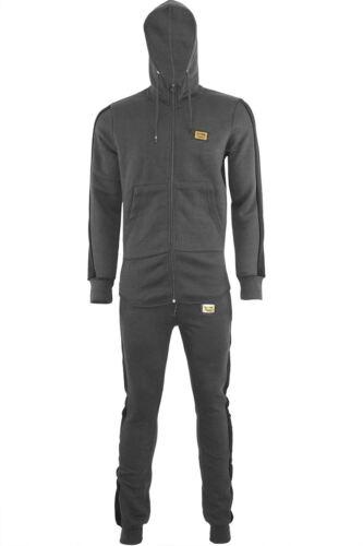 Mens Hooded Hoodie Sergio Italia Sweatshirt Top Gym Jog Jogging Zip Up Tracksuit