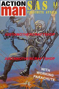 Action-Man-SAS-paracaidas-ataque-grande-A3-tamano-poster-anuncio-Cartel-Folleto-1983