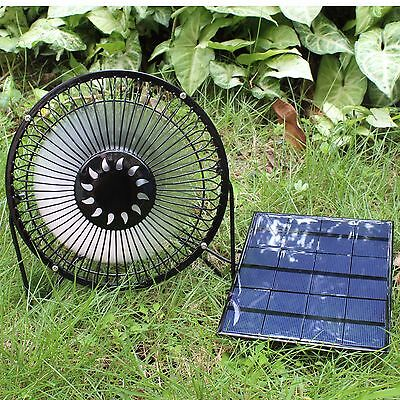 for 3.5W Solar Panel Powered  Mini Fan Greenhouse Chickhouse Ventilator 4 inch