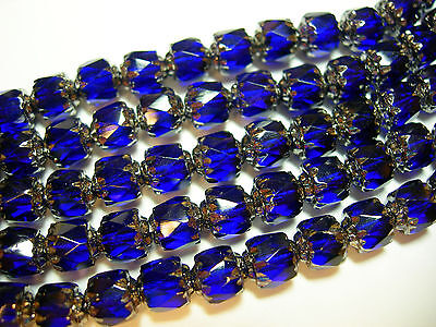 25 Smoke AB with Silver Cathedral Czech Glass 8mm beads