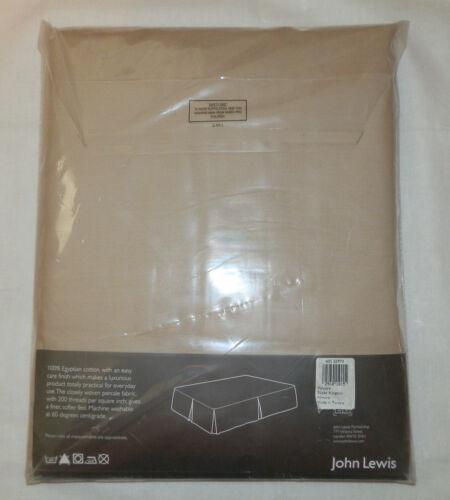 John Lewis Super Kingsize Centre Pleat Valance 100/% Fine Egyptian Cotton Percale