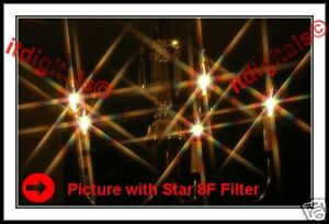 37mm Rotating Star 8F Lens Filter Eight point Flares 8PT Special Light Effects