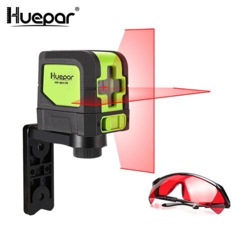 Huepar Rouge Croix Ligne Laser Niveau Auto-nivellement Vertical Horizontal Ligne
