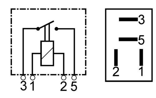 CARGO 12V 4 PIN TERMINAL COMPACT MICRO MINI MAKE AND BREAK RELAY 25A 160363