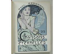 Paul Redonnel - Les Chansons éternelles Illustrées par Mucha... Art Nouveau 1898