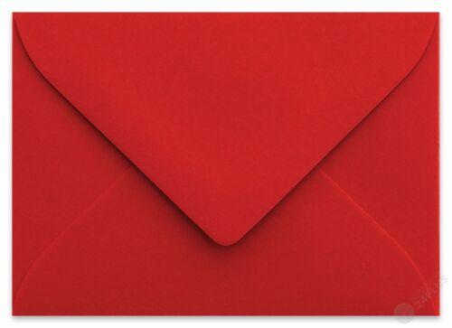 25x Briefumschläge Mini für Visitenkarten Rosen Rot feuchtklebend 9 x 6 cm
