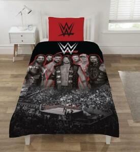 Details About Official Wwe Raw Smackdown Ring Single Duvet Quilt Cover Bed Set