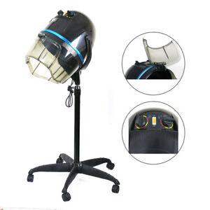 Adjustable 1300W Hooded Floor Salon Hair Bonnet Dryer Stand Up W/Wheels