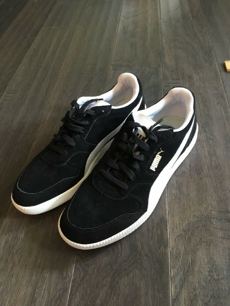 Puma Icra Trainer Shoes New Men's Size 11.5 Black Sneakers 356222 01