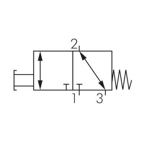 "sonda eco-Line 3//2 caminos-válvula g 1//4/"" serie VM vías pulsadores 3//2"