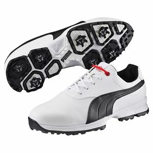 Image is loading Puma-Ace-Golf-Shoes-White-Black-High-Risk-